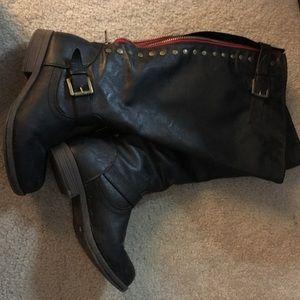 Tall black boot extrawide calf